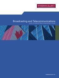 Broadcasting and Telecommunications - Stikeman Elliott