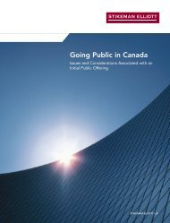 Going public in Canada - Stikeman Elliott
