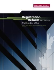 Registration Reform in Canada - Stikeman Elliott
