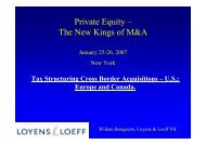Private Equity – The New Kings of M&A