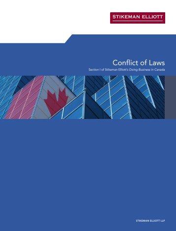 Conflict of Laws - Stikeman Elliott