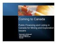 Coming to Canada - Stikeman Elliott
