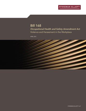BILL 168: Occupational Health and Safety ... - Stikeman Elliott