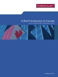 Introduction to Canada - Stikeman Elliott