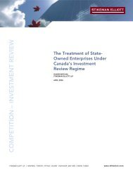 Treatment of State-Owned Enterprises Under ... - Stikeman Elliott