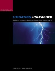 LITIGATION UNLEASHED - Stikeman Elliott