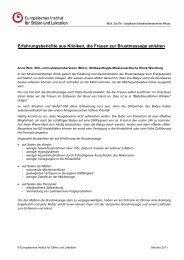 Erfahrungsberichte aus Kliniken zur Brustmassage - Europäisches ...