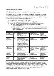 Arbeitsplan des neuen Vorstandsteams - Europäisches Institut für ...