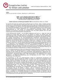 Still- und Laktationsberaterin IBCLC * - Europäisches Institut für ...