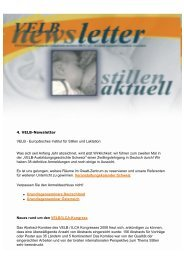 VELB-Newsletter Nr.4 - Europäisches Institut für Stillen und Laktation