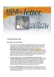 VELB-Newsletter 4/2009 - Europäisches Institut für Stillen und ...