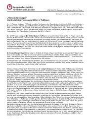 Bericht von der Fachtagung in Tuttlingen - Europäisches Institut für ...