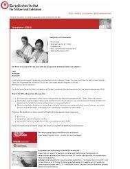 Newsletter 8/2010 - Europäisches Institut für Stillen und Laktation