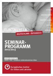 SeminAr- progrAmm - Europäisches Institut für Stillen und Laktation