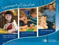adult programs youth programs early childhood family education