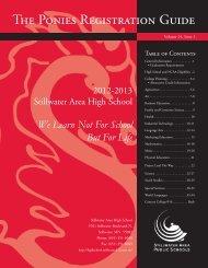 The Ponies Registration Guide - Stillwater Area Schools