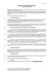 Allgemeine Teilnahmebedingungen - Stilwerk