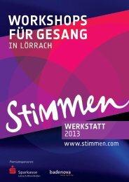STIMMEN-Werkstatt 2013