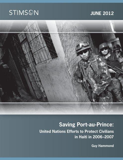 Saving Port-au-Prince: - The Stimson Center