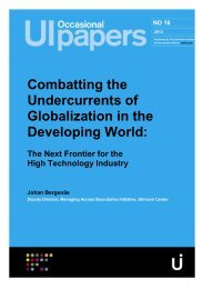 Combatting the Undercurrents of Globalization in the Developing ...