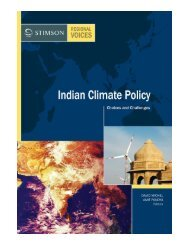 Indian Climate Policy: Choices and Challenges - The Stimson Center