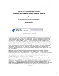 Peace and Stability Operations in Afghanistan - The Stimson Center