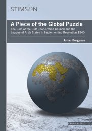A Piece of the Global Puzzle - The Stimson Center