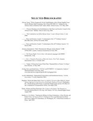 SELECTED BIBLIOGRAPHY - The Stimson Center