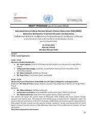 Conference Agenda - The Stimson Center