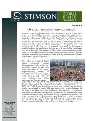 Sao Paulo Case Study - The Stimson Center