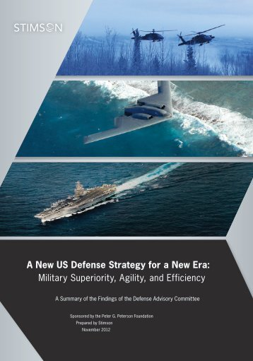 A New US Defense Strategy for a New Era - The Stimson Center