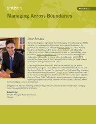 Managing Across Boundaries - The Stimson Center