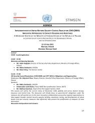 Implementation of United Nations Security Council Resolution 1540