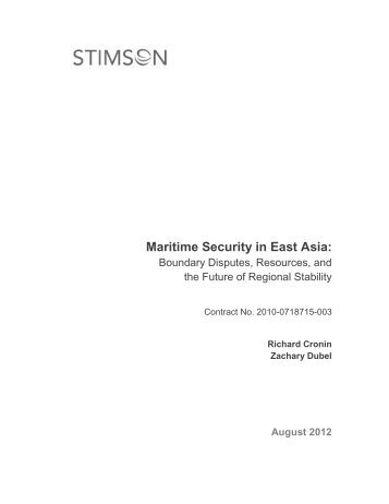 Maritime Security in East Asia: - The Stimson Center