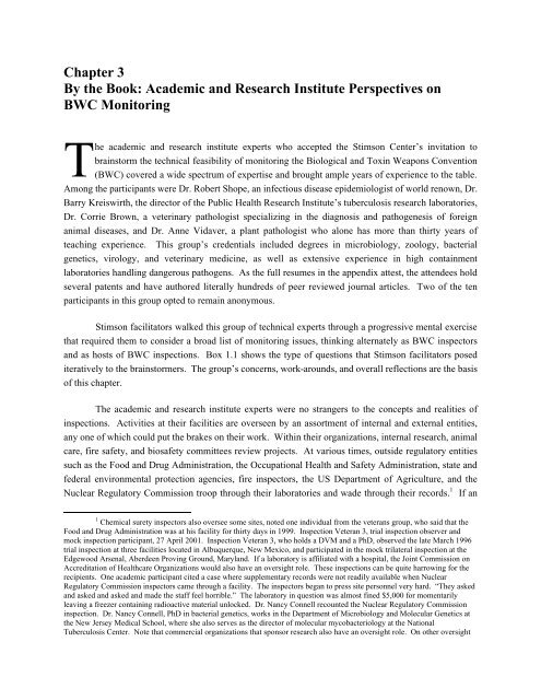 Chapter 3 By the Book: Academic and Research Institute ...