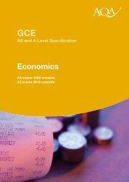 A-level Economics Specification Specification (version 1.3) - AQA