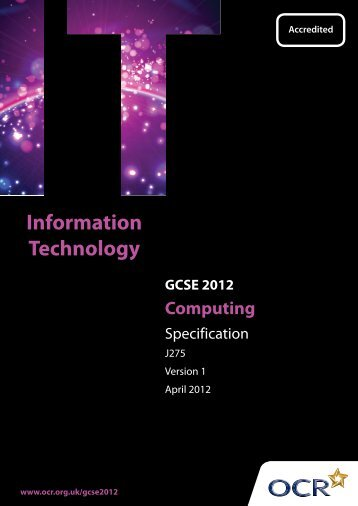 Specification - OCR