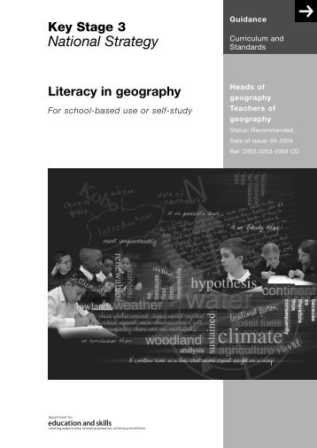 Literacy in geography - St Ivo School