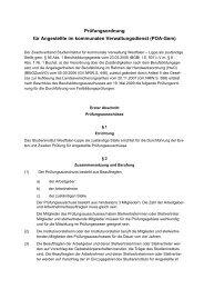 Prüfungsordnung für Angestellte - Studieninstitut Westfalen Lippe