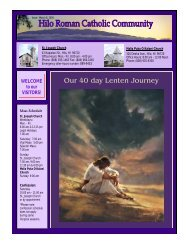 Our 40 day Lenten Journey - St. Joseph Catholic Church, Hilo
