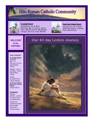 Our 40 day Lenten Journey - St. Joseph Catholic Church, Hilo