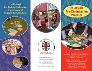 Pre-K Brochure - St. Joseph Catholic School