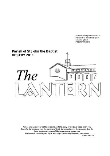 Parish of St John the Baptist VESTRY 2011 - Anglican Church of St ...