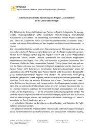 "Datenschutzrechtliche Bewertung des Projekts ""OA-Statistik"" - DINI"
