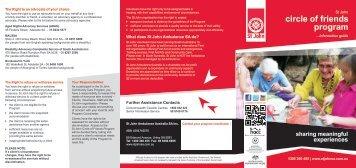 Circle of Friends Information Guide English version (pdf) - St John ...