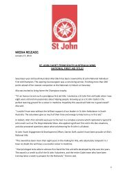 17 Jan 2013 | St John Cadet wins National First Aid Title
