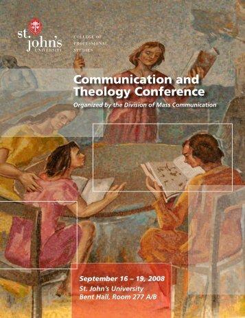 Communication and Theology Conference - St. John's University
