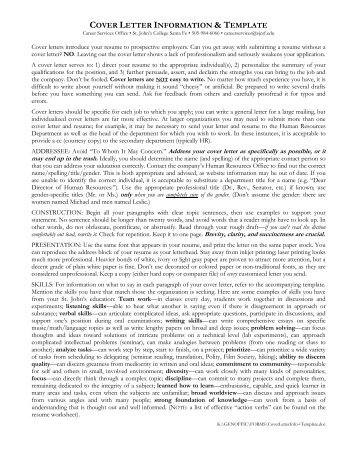 cover letter instructions templates samples uco career