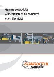 Gamme de produits Alimentation en air ... - Conductix-Wampfler