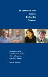 The Hodson Trust Teacher Fellowship Program - St. John's College